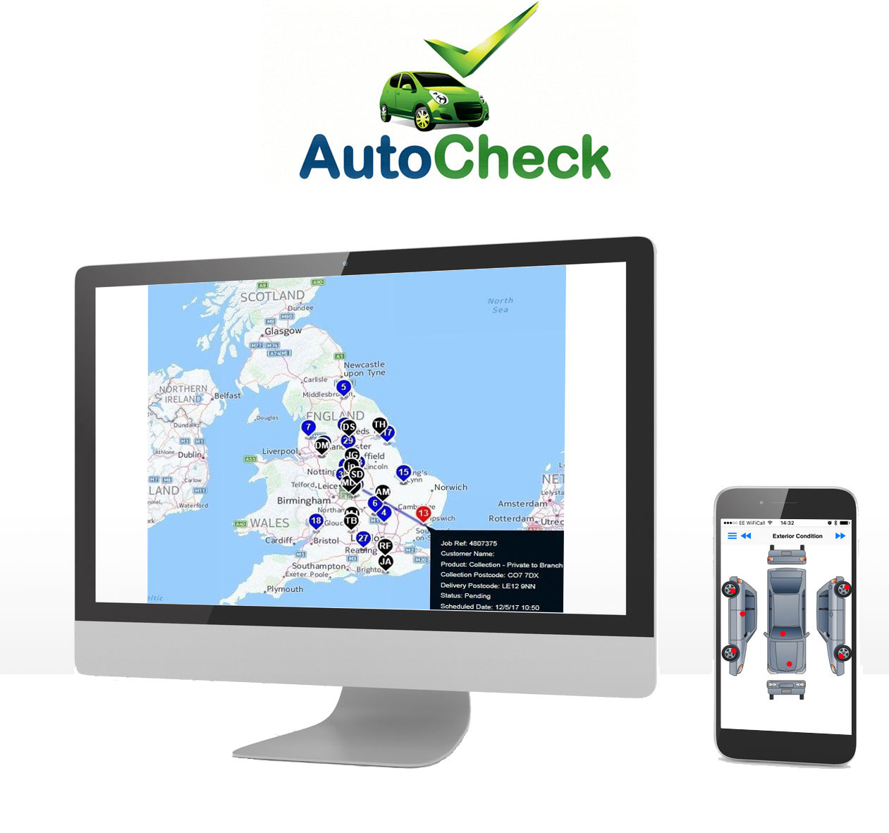autocheck on a computer and mobile phone